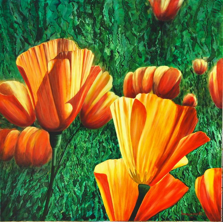 Fiori 2 vendita quadro pittura artlynow for Fiori di ciliegio dipinti