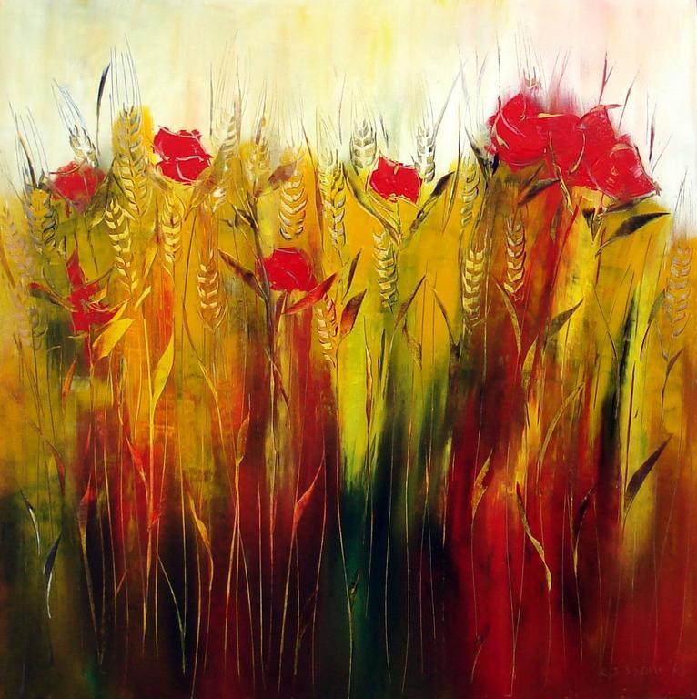 Campo di grano - Cesare Cassone - Acrilico - 800 €