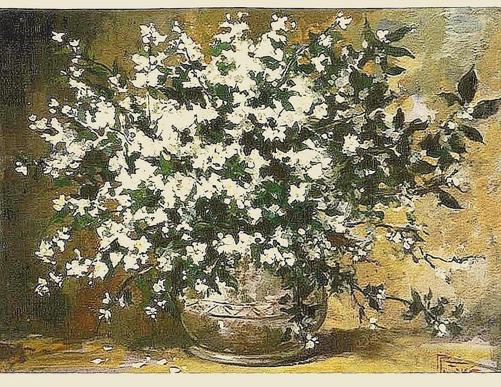 Fiori bianchi vendita quadro pittura artlynow for Fiori dipinti a olio