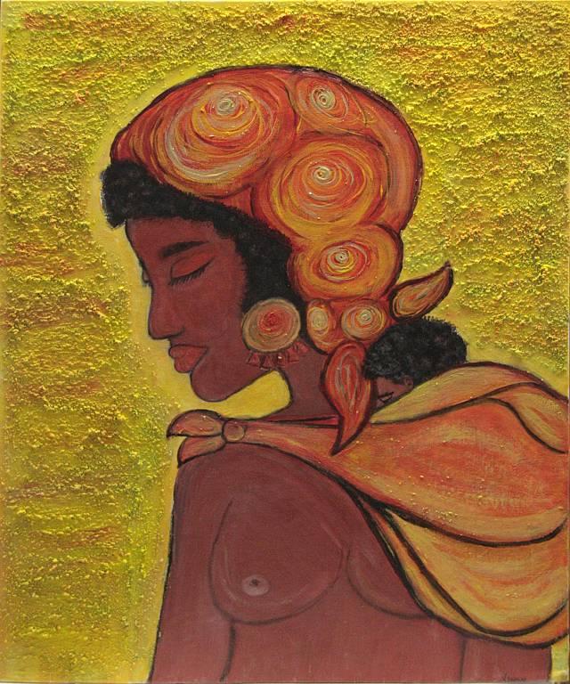 Ben noto la donna africana - vendita quadro pittura - ArtlyNow OT64