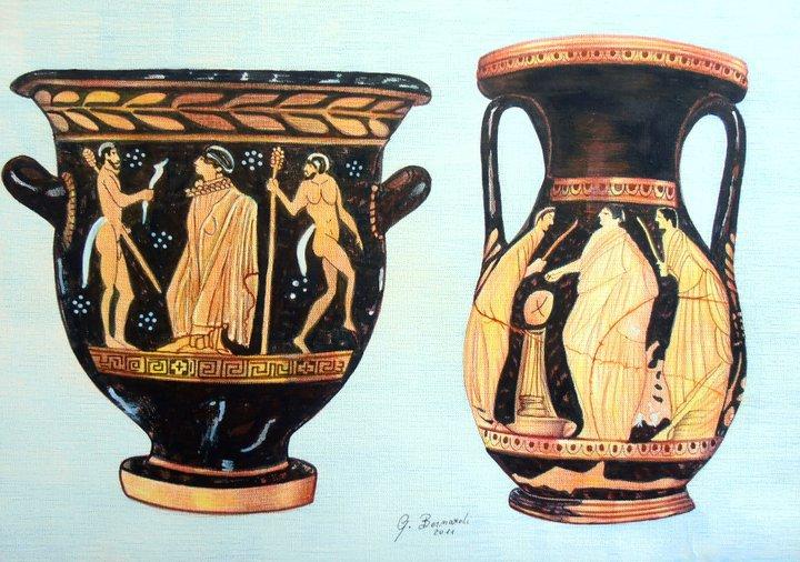 Vasi greci vendita quadro pittura artlynow for Vasi antica grecia