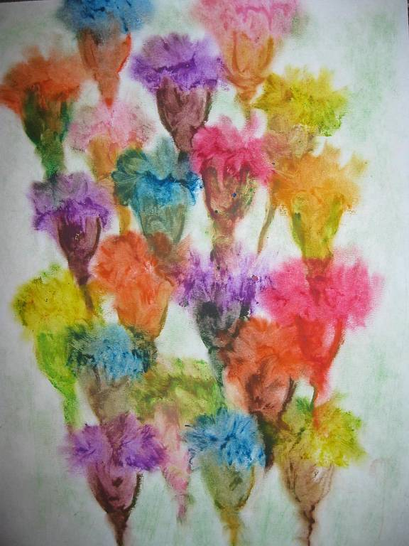 Il mondo dei fiori immaginari vendita quadro pittura for Immagini quadri fiori