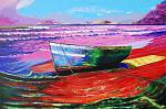 Barca sulla spiaggia - GRECO Bruno - Acrilico