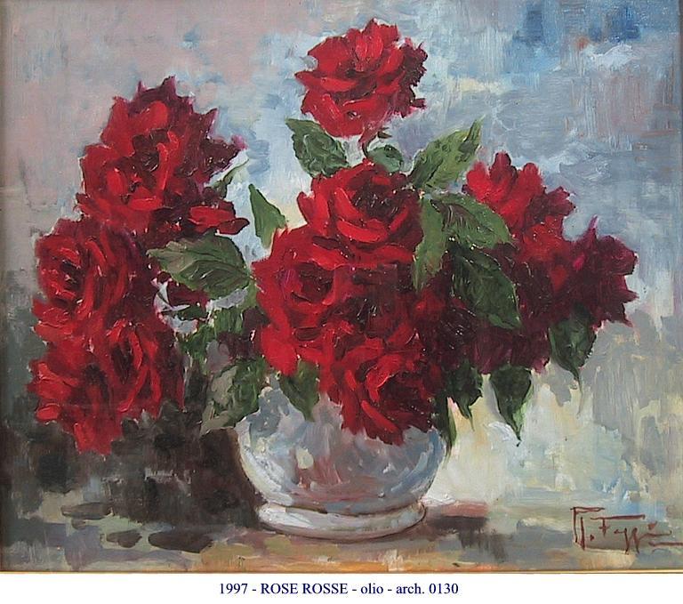 Rose rosse vendita quadro pittura artlynow for Quadri con rose rosse