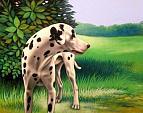 Icaro (il mio cane) - Salvatore Ruggeri - Olio