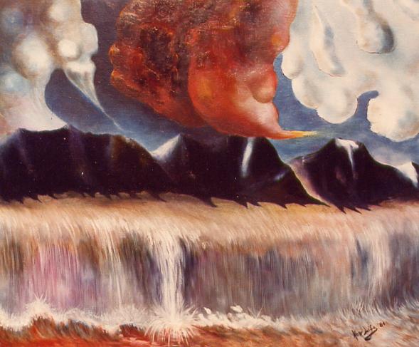 la cascata - daniele rallo - Olio -  €