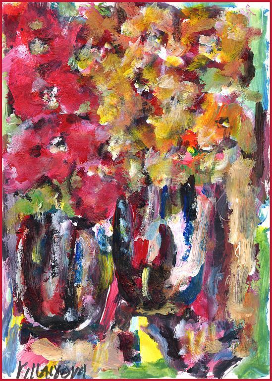 Composizione - Aurelio Villanova - Acrilico - 75 €
