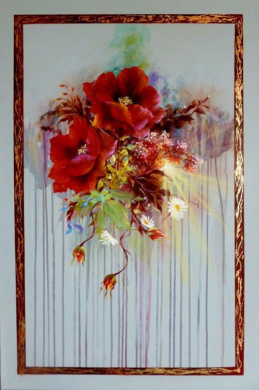 papaveri rossi vendita quadro pittura artlynow
