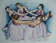 """""""Le Danzatrici"""" - Gina Pardo - Acquerello"""