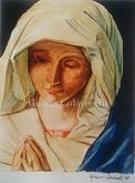 Madonna, riproduzione del dipinto di Giovanni Battista Salvi - Gianni Colavecchi - Tecnica mista con acquarello e matite colorate  - 250€