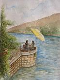 Baveno, lago Maggiore  - Gianni Colavecchi - Acquerello
