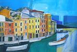 Portofino - Gabriele Donelli - Pastelli e acrilico