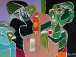 Tre marziani in supposizione - Gabriele Donelli - Acrilico