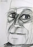 Ritratto di Alberto Moravia - Gabriele Donelli - Matita
