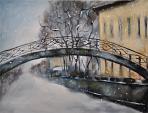 Inverno a Torino  - Olga Maksimova - Olio
