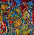 Pentagramma nel colore - Marisa Milan - Olio