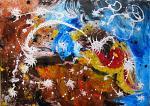 Bright stars - anna casu - Acrilico