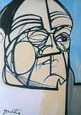 Ritratto di Goffredo Parise - Gabriele Donelli - Olio