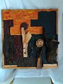 """""""Risurrezione"""" - Stefano Vaninetti - Acrilico,legno...ed altro su pannello di legno - 500,00€"""