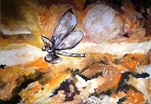 La libellula non vola nel deserto - Olimpia Undari - Olio - 500€