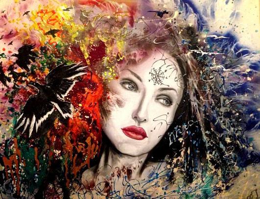 sciamana - Svetlana Smyshlyayaeva - Acrilico - 450 €