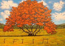 La quercia rossa - Erino Sciarrino - Acrilico - 150€ - Venduto!