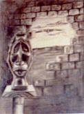 testa africana - daniele rallo - Carboncino - €