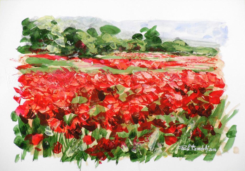 PAPAVERI e PAPAVERI - vendita quadro pittura - ArtlyNow