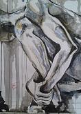 ---- - Silvia Tschauschev - china, carboncino,pastello su cartone - 70€ - Venduto!