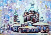 La chiesa - Svetlana Zakharova - Olio - Venduto!