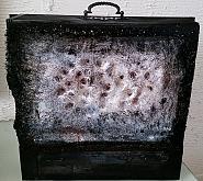 """"""" La valigia del mio essere"""" - aliz polgar - legno-fibra di vetro-cartone"""