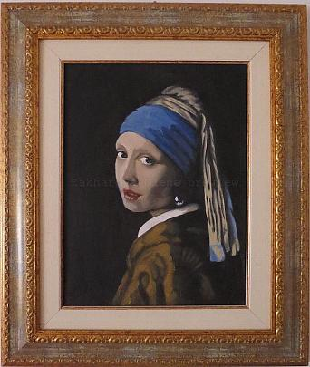 Copia - La ragazza con l'orecchino di perla (Jan Vermeer) - Olena Zakharova - Olio - 2000 €