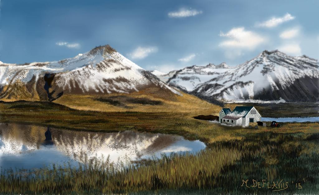 Fattoria fra i monti vendita quadro pittura artlynow for Piani di fattoria contemporanea