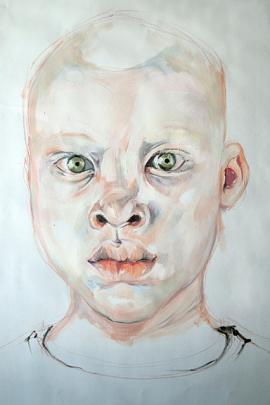Africano Albino - Giulia di Renzo - Olio