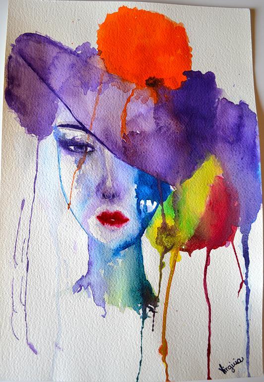 Super serie: DONNA CON CAPPELLO - vendita quadro pittura - ArtlyNow GC05