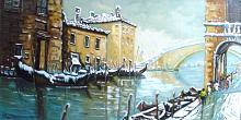 """""""Venezia"""" Spedizione gratuita - Pietro Dell Aversana - Olio - 120€ - Venduto!"""