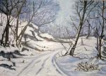 Paesaggio invernale - Pietro Dell Aversana - Olio