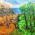 C'era una volta il tempo degli alberi - Pietro Dell Aversana - Olio - 150 €