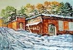 Pavia paesaggio invernale - Pietro Dell Aversana - Olio - 150 €