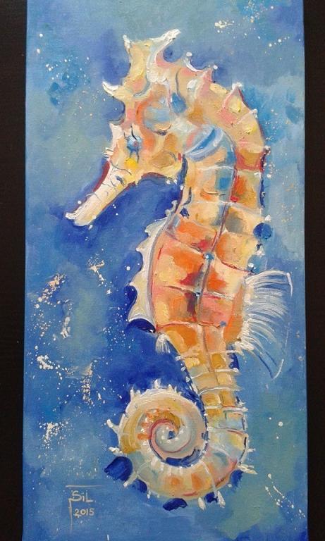 Cavalluccio marino 2 vendita quadro pittura artlynow for Foto cavalluccio marino