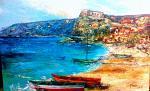 La spiaggia di Scilla - tiziana marra - tecnica mista - 350,00€ - Venduto!