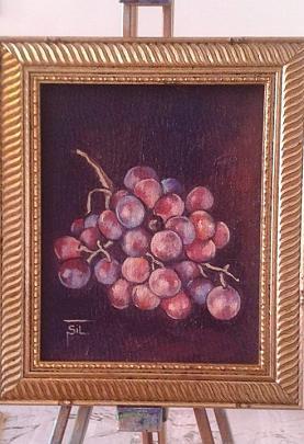 Grappolo d'uva rossa - Silvia Tschauschev - Olio - 100 €