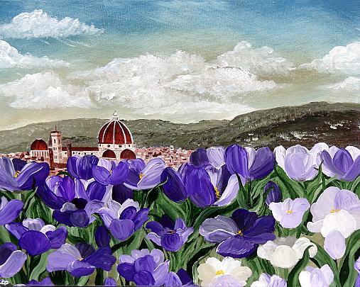 Tulipani a Firenze - Daniela Pasqualini - Acrilico - 366 €