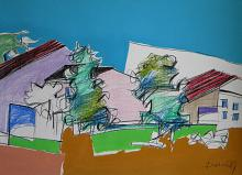 Paesaggio - Gabriele Donelli - Pastello e acrilico