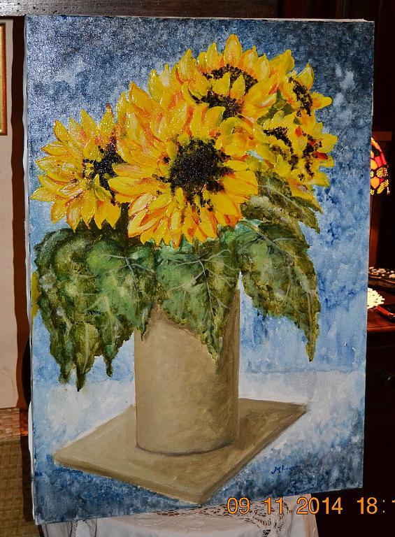 Vaso con girasoli - vendita quadro pittura - ArtlyNow