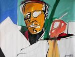 Ritratto di Truman Capote - Gabriele Donelli - Olio