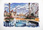 RAINBOW MAGICLAND 1 - Il Parco divertimenti di Roma - Paolo Benedetti - Acrilico - 80€