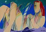 Ragazza sdraiata - Gabriele Donelli - Pastello e acrilico