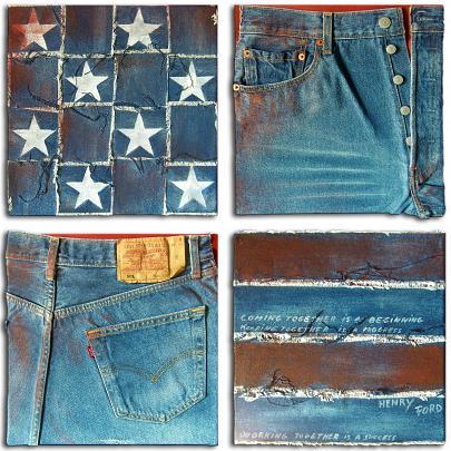 Old America - Marisa Caprara - Acrilici e collage