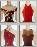 donne in rosso - Marisa Caprara - Acrilici e collage
